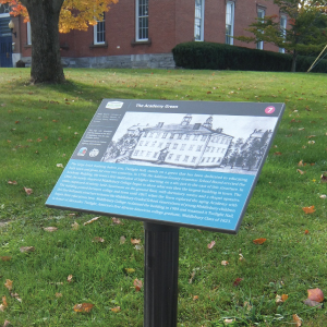 Middlebury Visitor Services Parking & Interpretive Signage